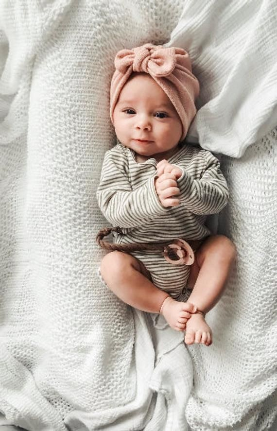 Photo of Blush Knit Hat: (sweater) w/ Top Knot – baby turban, winter baby hat, warm baby hat, baby tur…