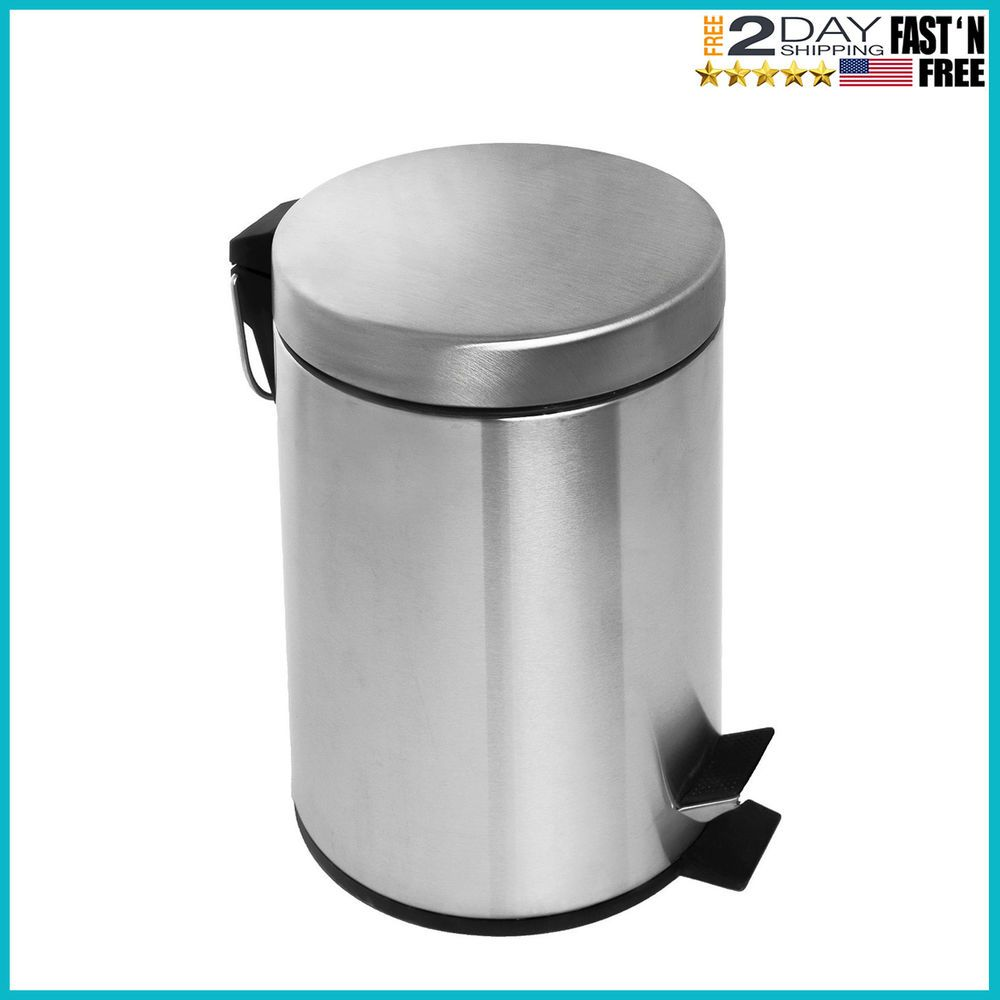 Garbage Can Garbage Can Ideas Garbage Can Garbagecan Bathroom Bath Stainless Steel Trash Garbage Can With Lid Bronze Small Foot Pedal Amazing Bathrooms