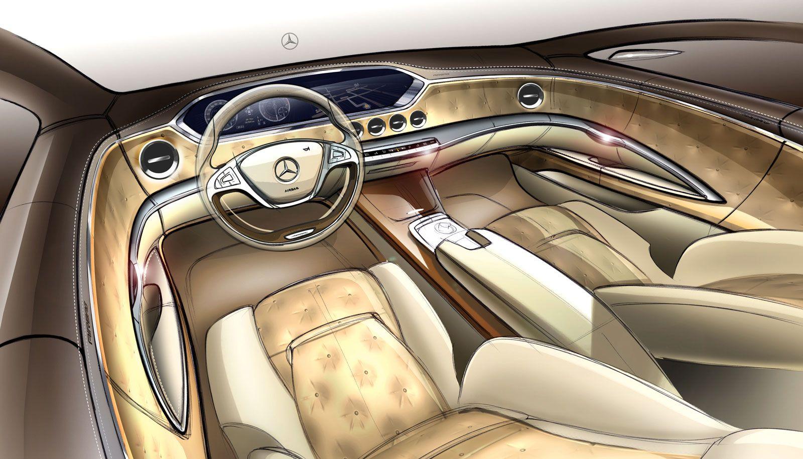 2014 Mercedes Benz S Class Interior Design Sketch Benz S Benz S Class Mercedes S Class