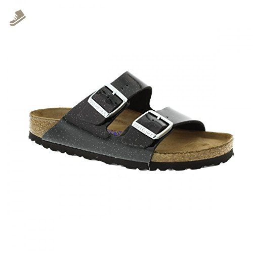 2f9da8c6e943 Birkenstock Womens Arizona Soft Footbed Magic Galaxy Black Synthetic Sandals  41 EU - Birkenstock mules and clogs for women ( Amazon Partner-Link)