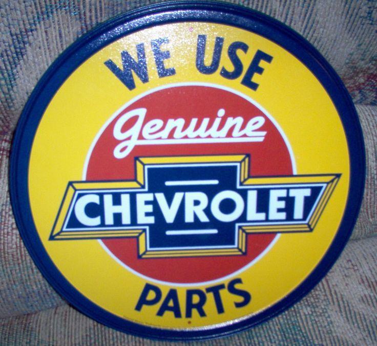 Vintage Chevrolet Parts Sign | Vintage Signage & Advertising ...