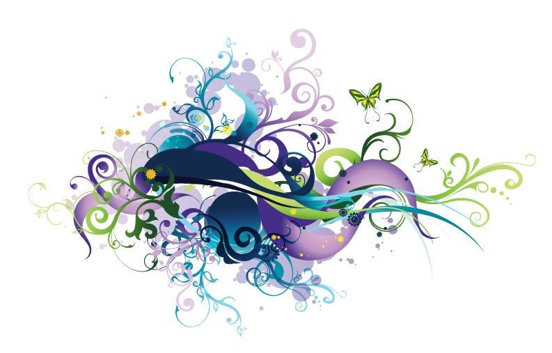 flower vector graphics swirl