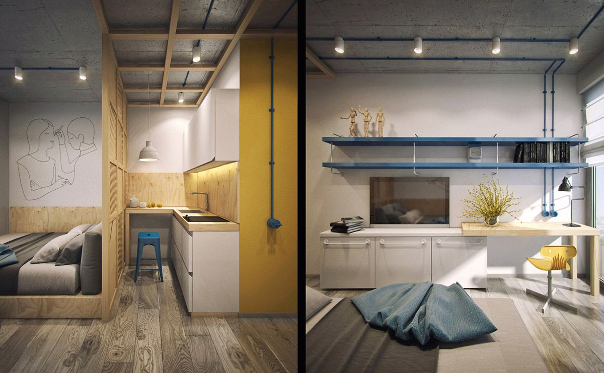 Modular Studio Apartment Design