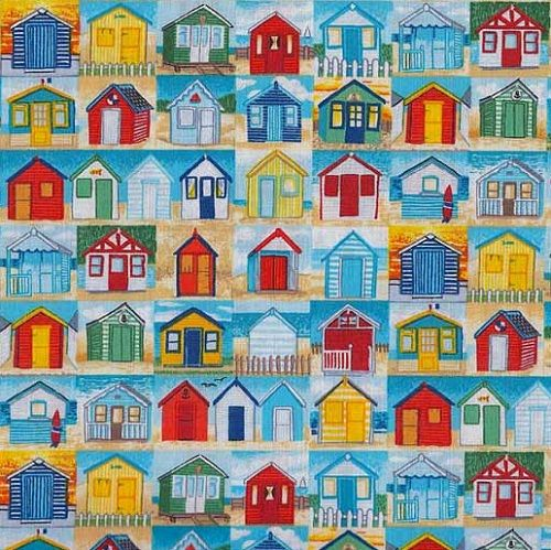 Cute beach hut repeat on lady sew and sew