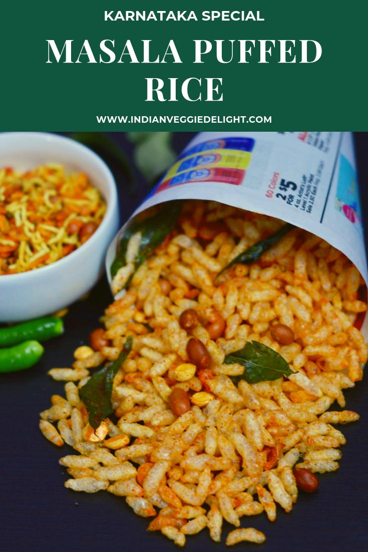Masala Puffed Rice Spicy Garlic Puffed Rice Recipe Healthy Snacks Recipes Puffed Rice Indian Food Recipes Vegetarian