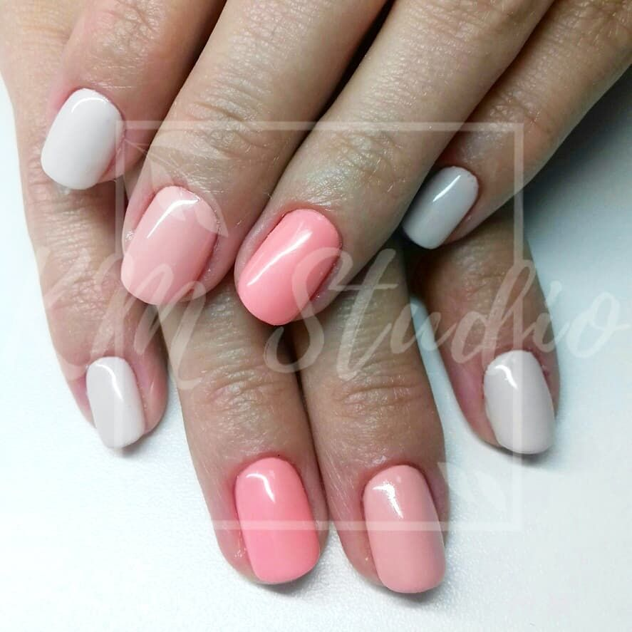 Cukiereczki Manicure Nails Hybrid Shortnails Spring