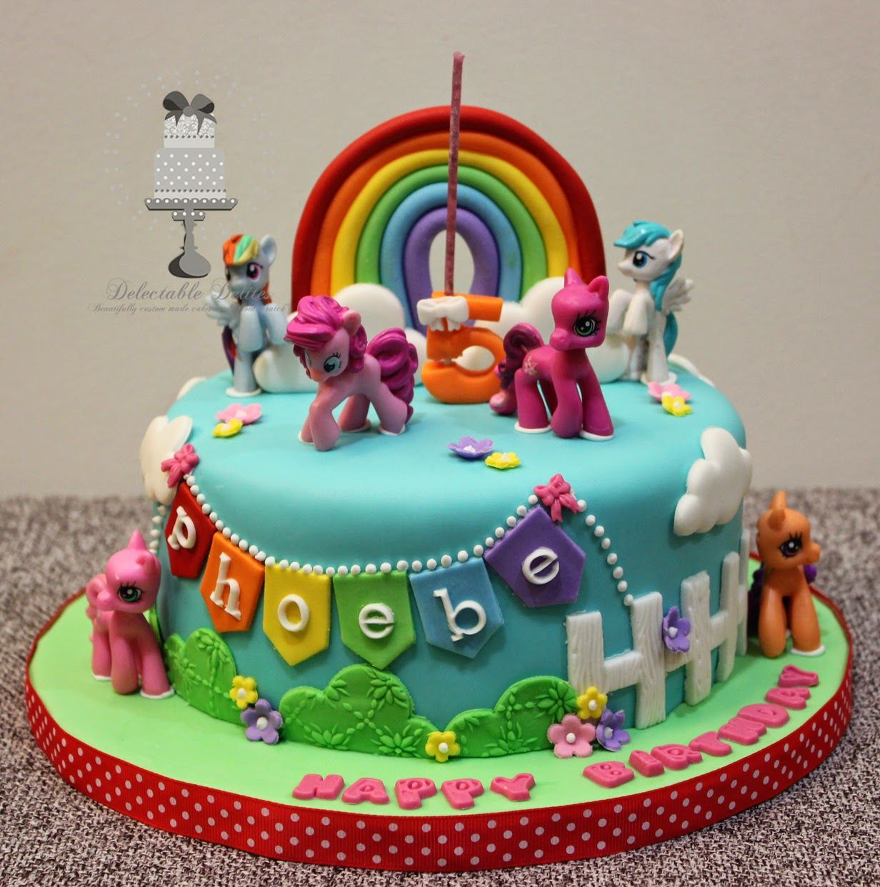 Delectable delites my little pony cake for phoebes 5th