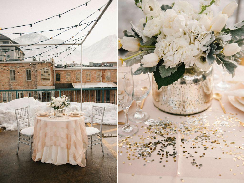 Modern Winter Rooftop Wedding | Ruffled Wedding Blog ...