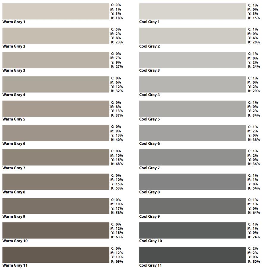 Image result for warm grey rgb | Warm grey, Shades of gray ...