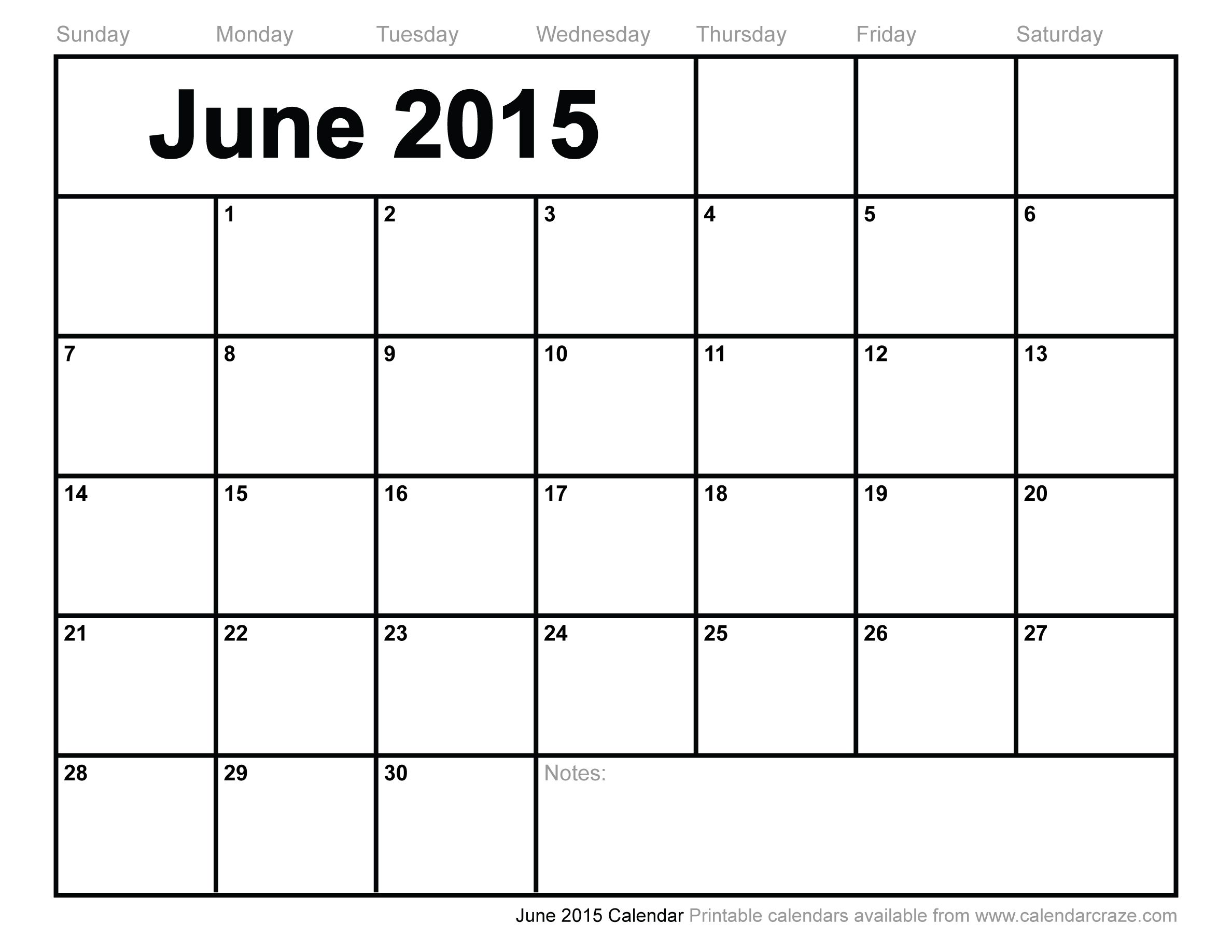 june calendar 2015 free download
