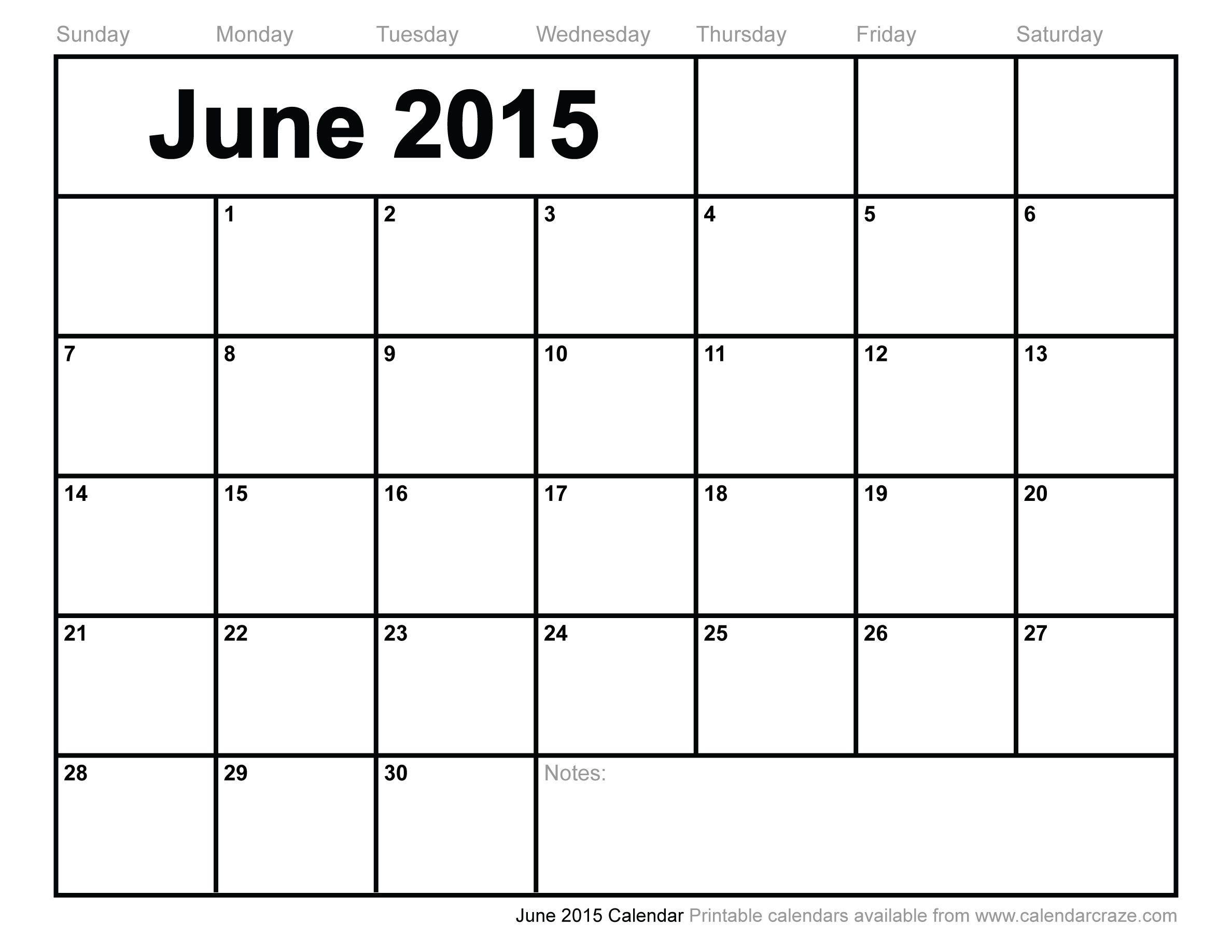Calendar Craze June : June calendar recherche google organisation