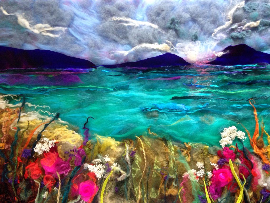 Isle of Lewis felt art by Debra Esterhuizen