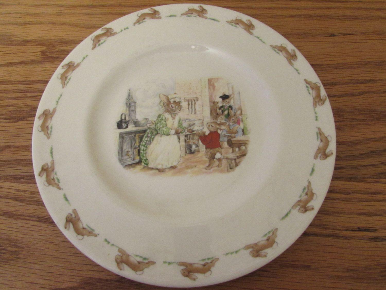 plate Vintage English Bone China Royal Doulton Bunnykins Made in England Children/'s dinnerware Bathtime Bunnykins