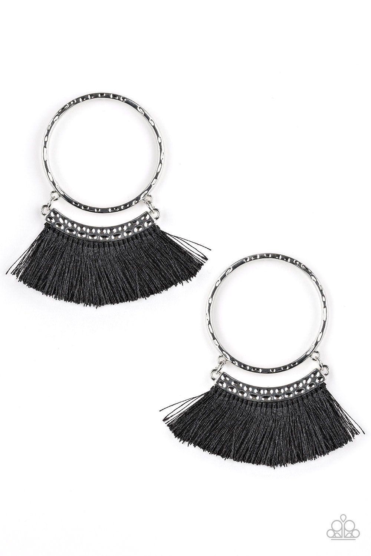 4cff080e0 Black Fringe Tassel Earrings #Paparazzi #blingbydanielle  #daniellebaker129930 #fivedollarbling #paparazziaccessories
