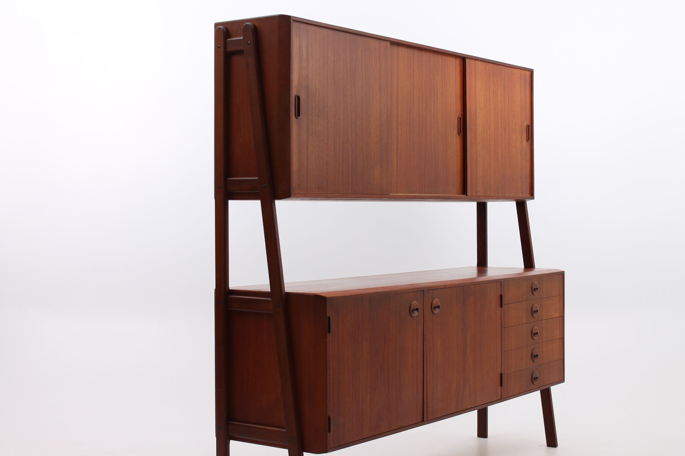 Sideboard Kirschbaum Double Sideboard In Teak Two Sections One With A Bar Inside