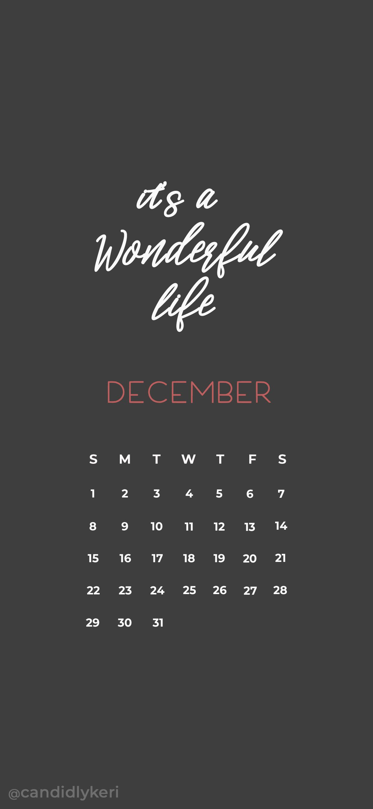 Its A Wonderful Life December Calendar 2019 Wallpaper You Can