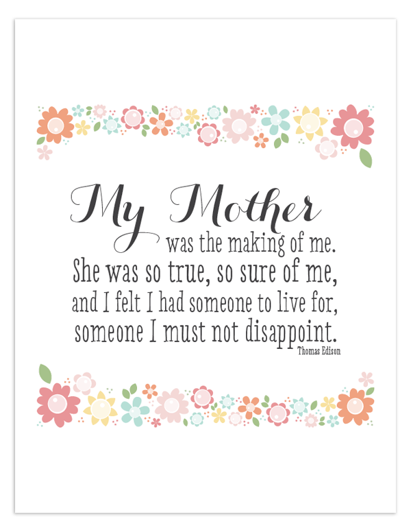 My Mother Free Printable Quote Free Printable Quotes