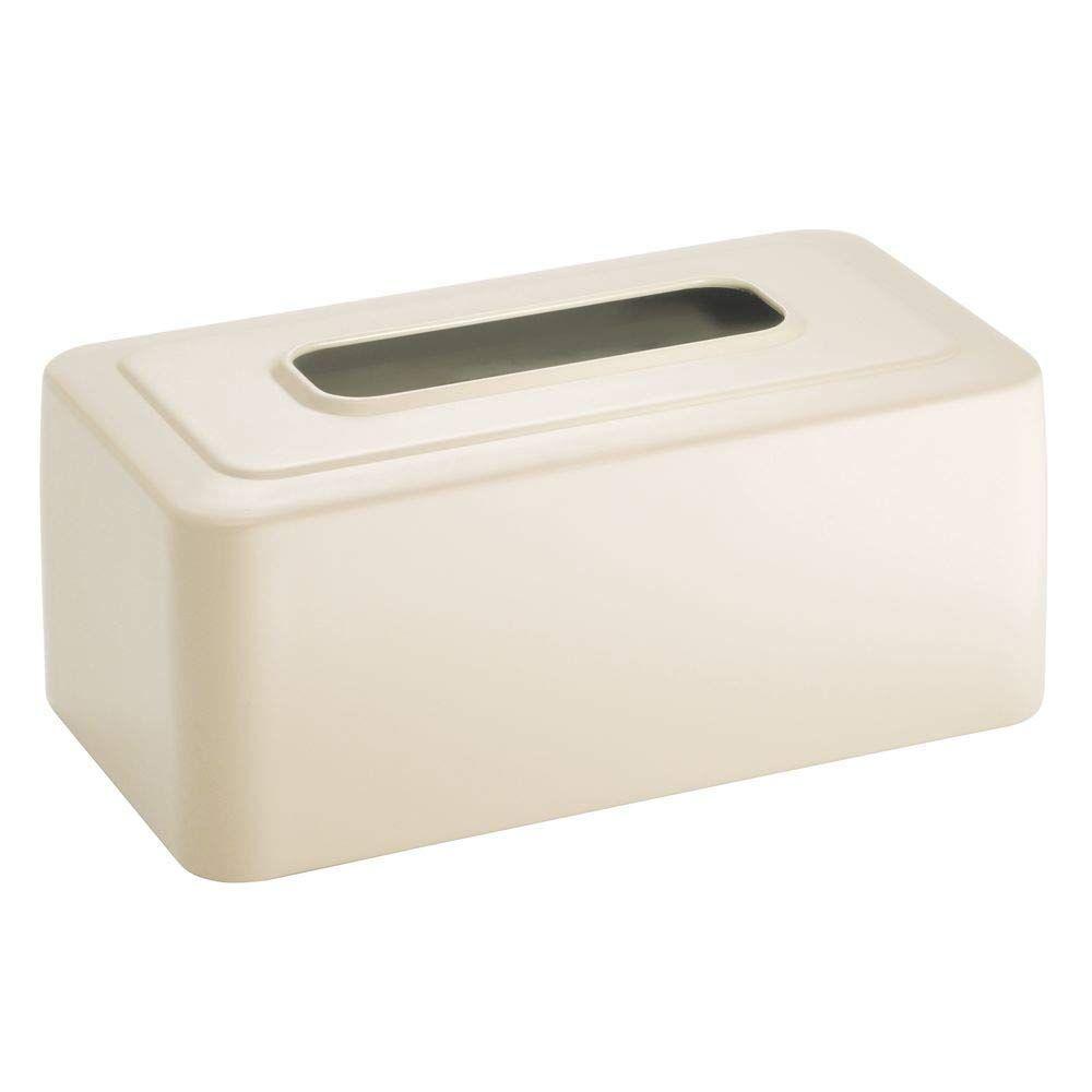 mDesign Modern Plastic Disposable Facial Tissue Box Cover