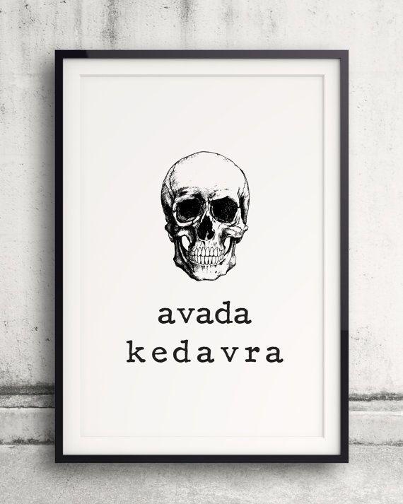 Avada Kedavra Poster Harry Potter Poster Fluch Toten Unverzeihlicher Fluch Harry Potter Zau Harry Potter Poster Harry Potter Painting Harry Potter Drawings