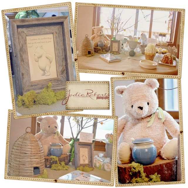 Classic Winnie the Pooh baby shower, a ton of ideas for that