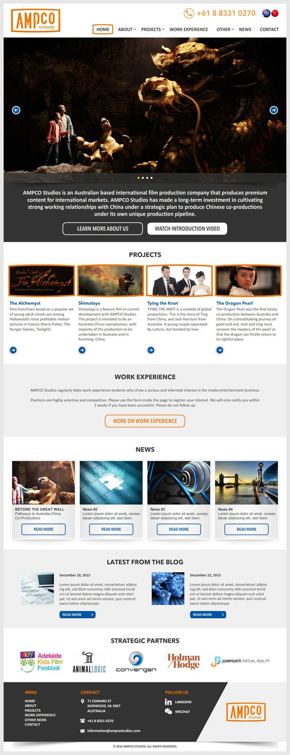 29 Bold Web Designs Web Design Project For A Business In Australia Web Design Projects Web Design Movie Production Companies