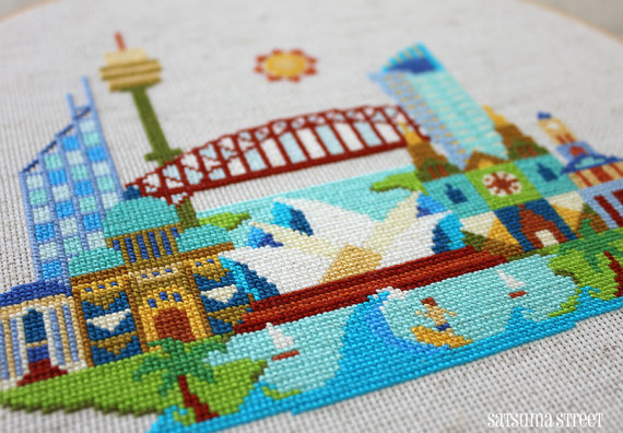 Pretty Little Sydney Satsuma Street Modern Cross Stitch Pattern