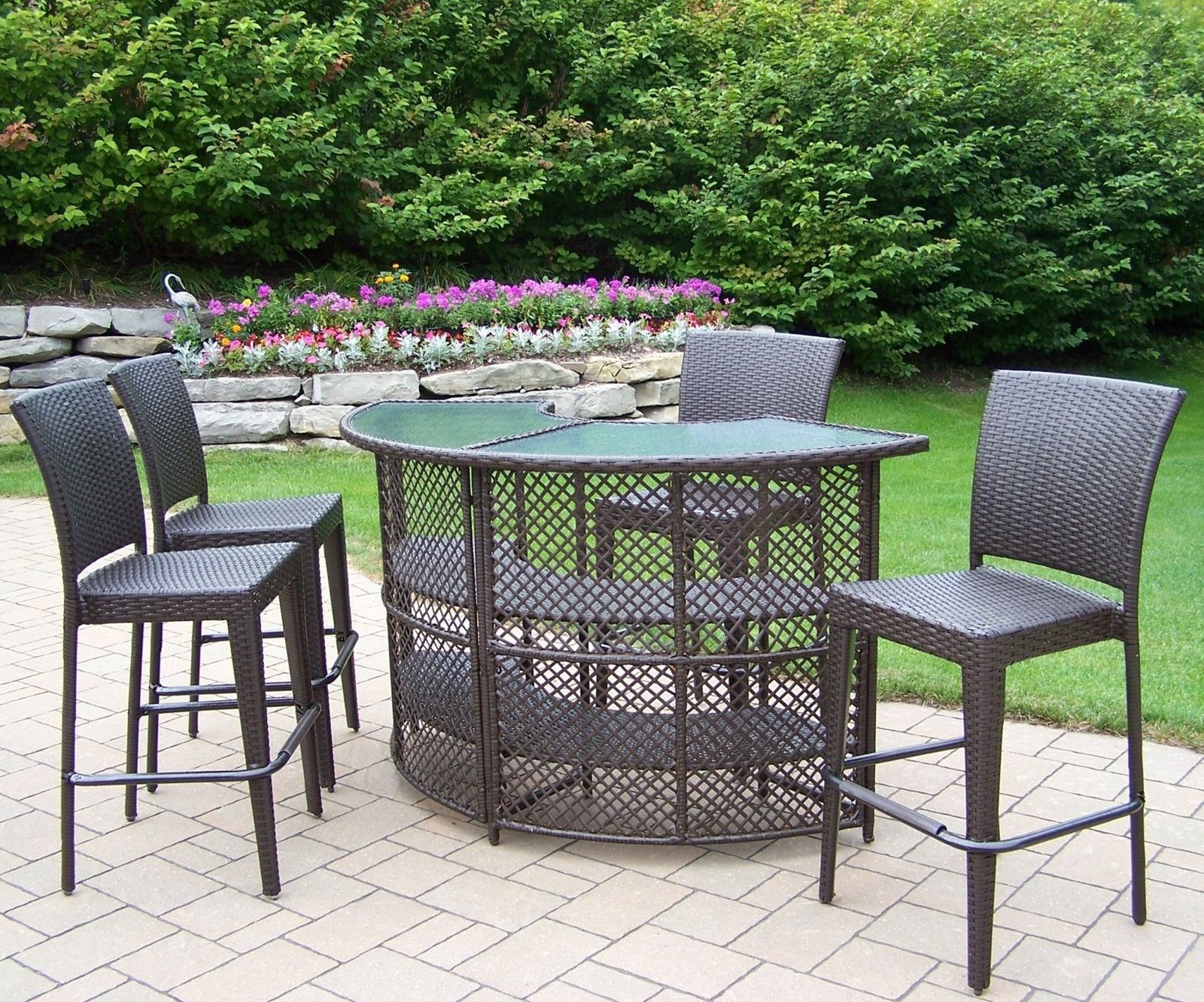 Captivating Bar Height Patio Furniture Sets