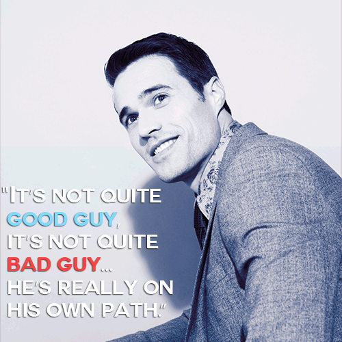 It's not quite good guy, it's not quite bad guy... he's really on his own path. || Brett Dalton || 500px × 500px || #cast #quotes