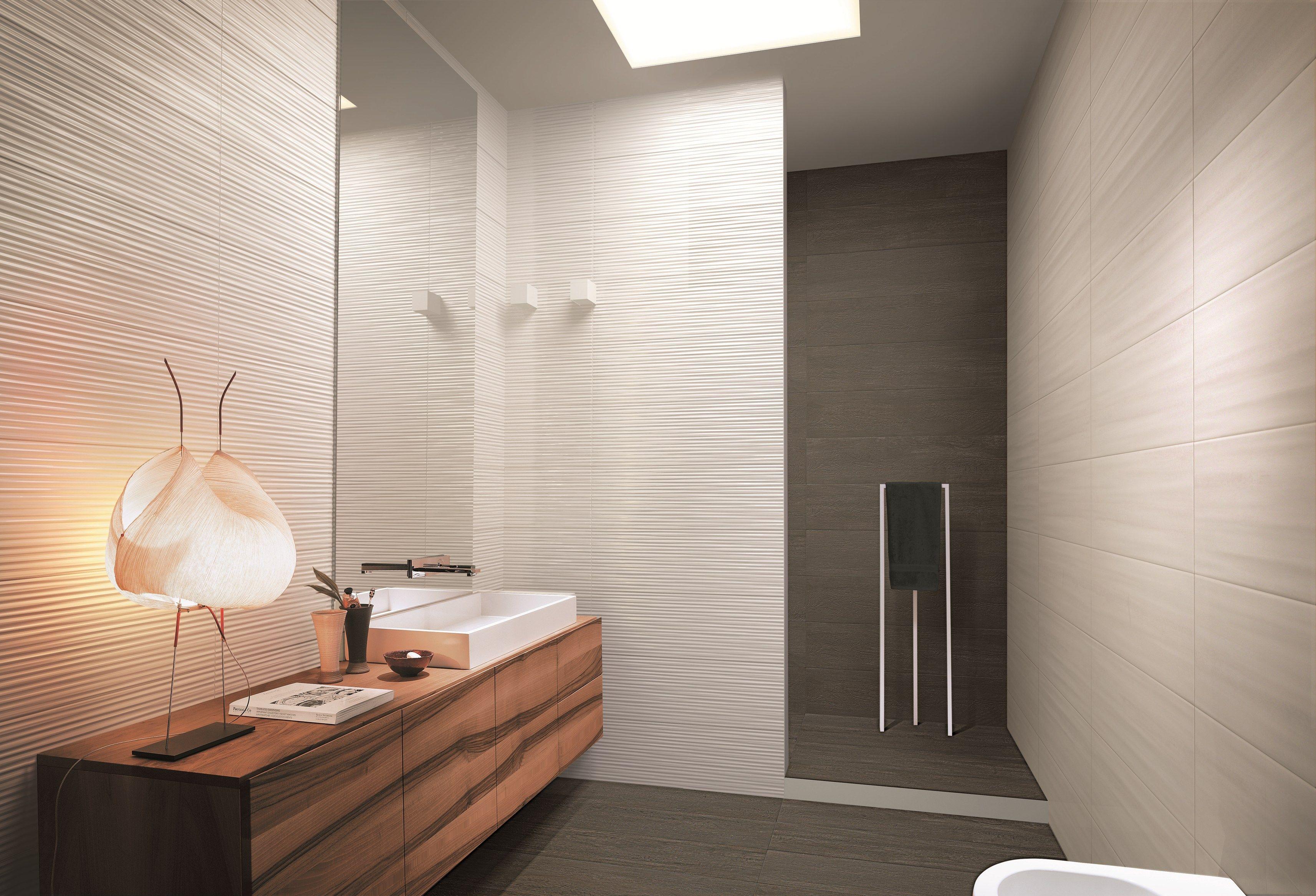 Revestimiento de pared 3D en pasta blanca para interiores FLOWS Colecci³n Revestimientos en pasta blanca by Atlas Concorde HOME Paredes