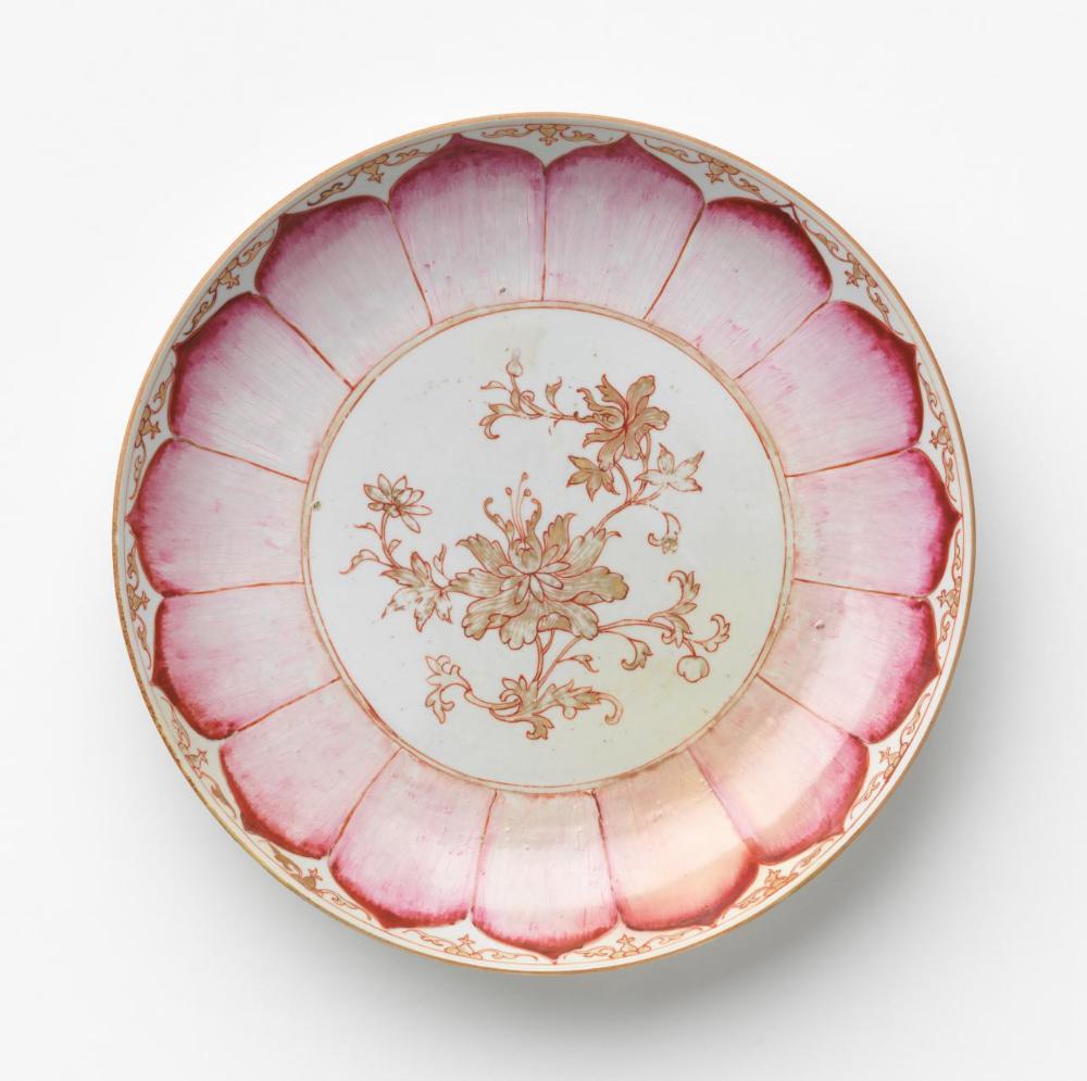 Dish C 1760 Chinese Porcelain Enamel Famille Rose Ware Chinese Ceramics Chinese Pottery Chinese
