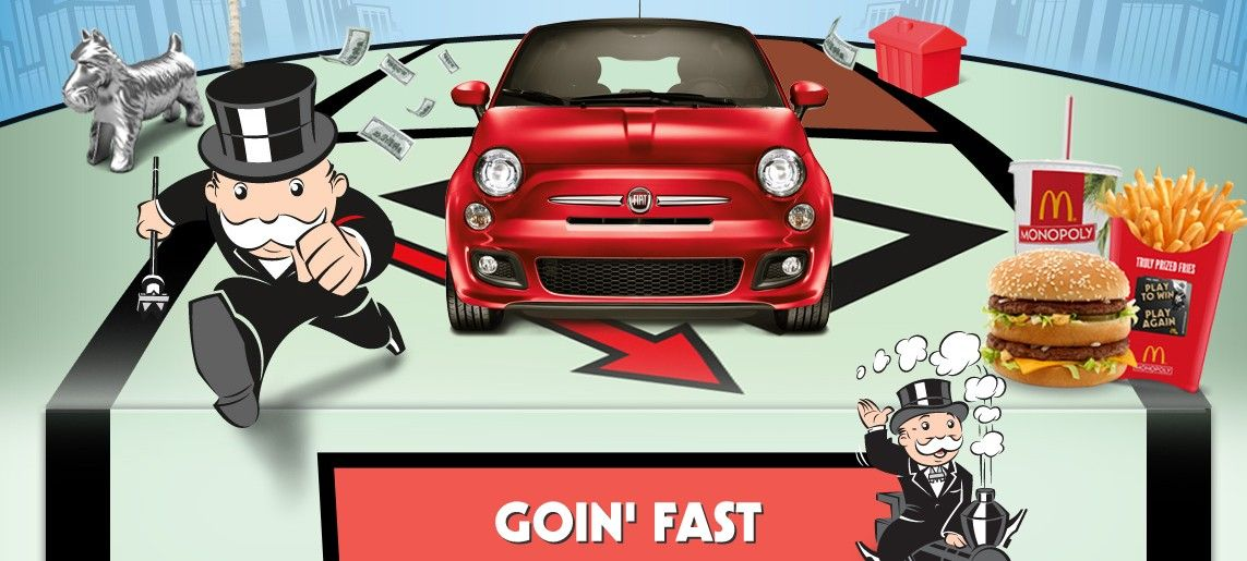 2012 mcdonalds monopoly sweepstakes is back fiat