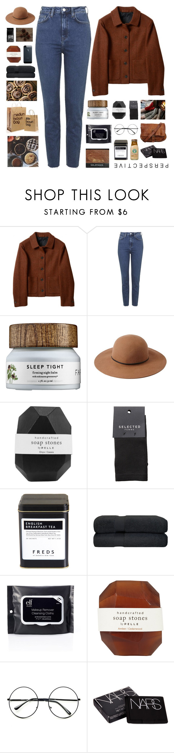 """""""Tori"""" by organized ❤ liked on Polyvore featuring Topshop, Forever 21, Pelle, SELECTED, FREDS at Barneys New York, Bloomingville, Retrò and NARS Cosmetics"""