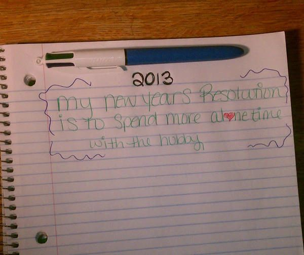 @Smiley360 My 2013 New Years Resolution, courtesy of my Bic 4 in1 pen !