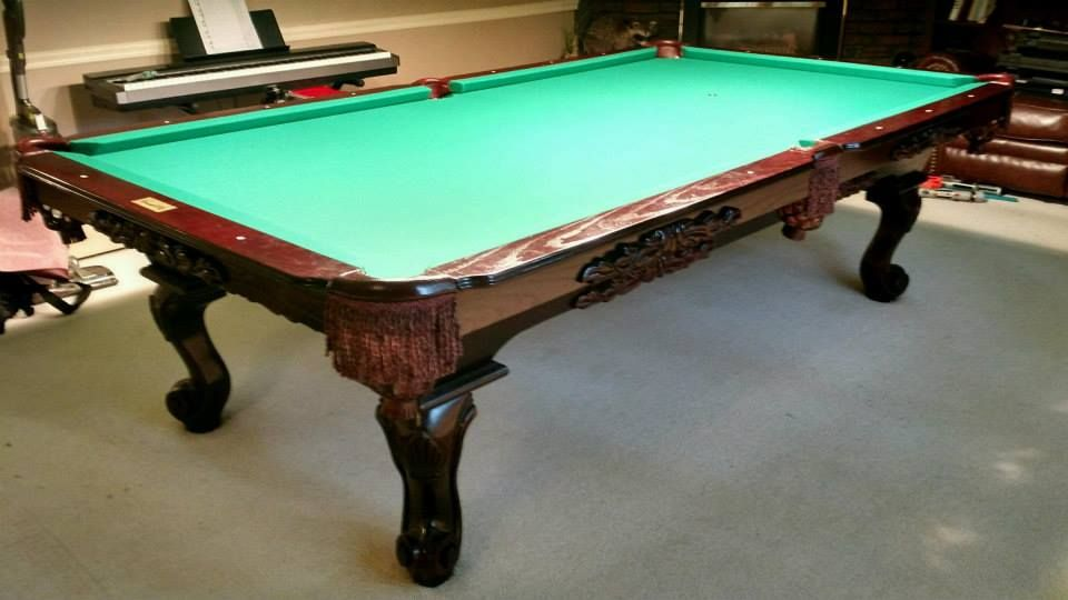 Connelly Catalina Pool Table Shown In Dark On Oak Stain The - Connelly catalina pool table