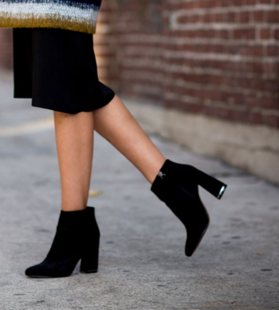 Carvela Sarah Black Suede Pointed Ankle