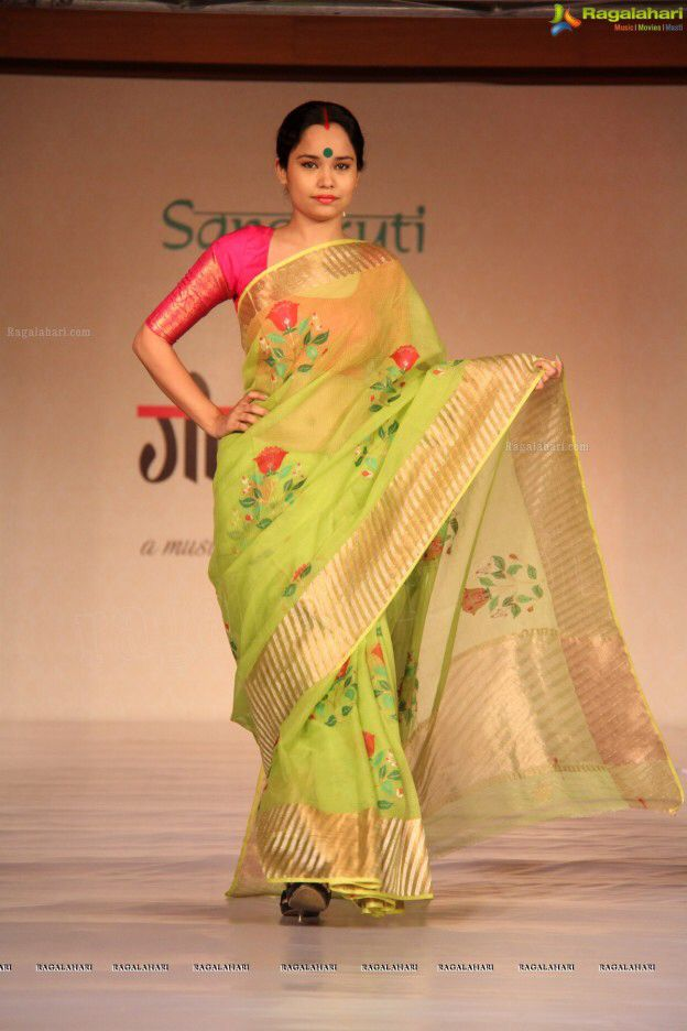 5f240e7ca6237 Gaurang Shah Saree. Unlike other designers he does not put his label on  woven Sarees as he does not want to take away the credits of the weavers.