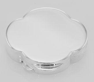 Premium Italian Handmade Clover Shaped Sterling Silver Pillbox $250 Silver Mine Gifts
