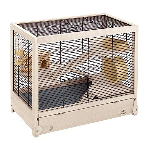 Ferplast Hamsterville Hamster Habitat Cage Sturdy Wooden Structure