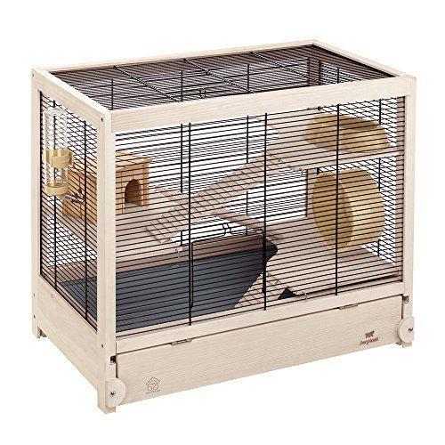 Ferplast Hamsterville Hamster Habitat Cage Sturdy Wooden Structure Black Amazon Best Buy Petsuppliessale Hamster Cage Hamster Habitat Hamster Cages