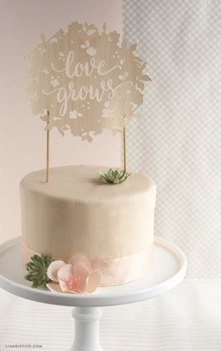 diy wedding cake toppers shared at Katherines Corner