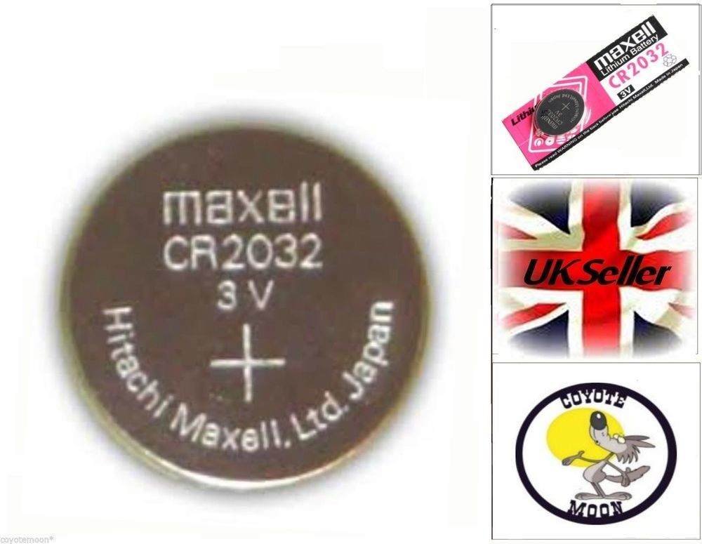 AUDI CR2032 CAR KEY FOB REPLACEMENT MAXELL BATTERY 3V