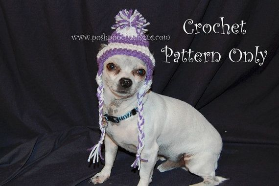 Instant Download Crochet Patterns Turkey Hats For Dogs 3 Sizes S