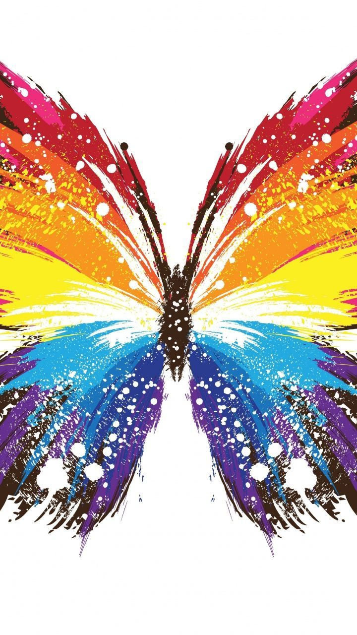 Butterfly Abstract art Colorful ****RAINBOW COLORS