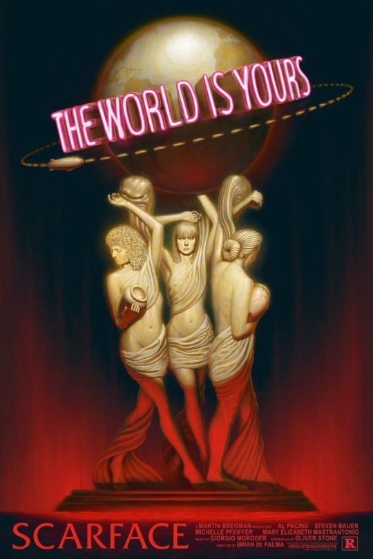 Scarface Money Power Women By John Barry Ballaran Scarface Poster Scarface Movie Scarface