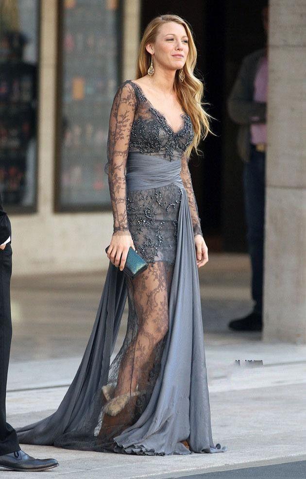 Customized V Neck Evening Dress robe de soiree Gossip Girl Blake ...
