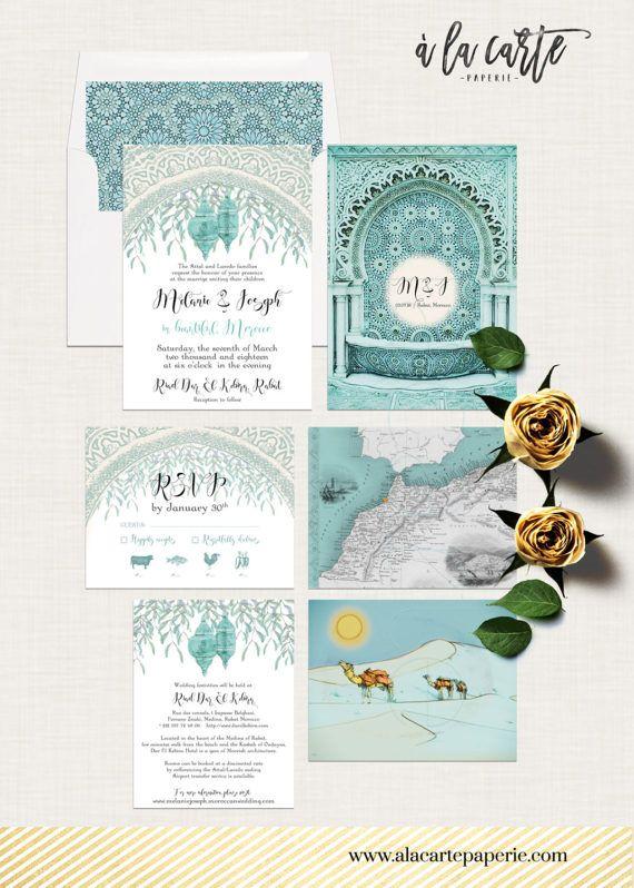 Morocco Arabia Desert Weddings Destination Wedding Invitation