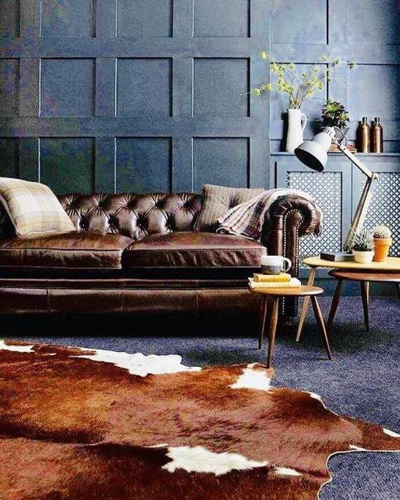 Brown Cowhide Rug Tricolour Cow Hide Skin 190 X 160cms In 2020 Hide Rug Living Room Cowhide Rug Living Room Rugs In Living Room