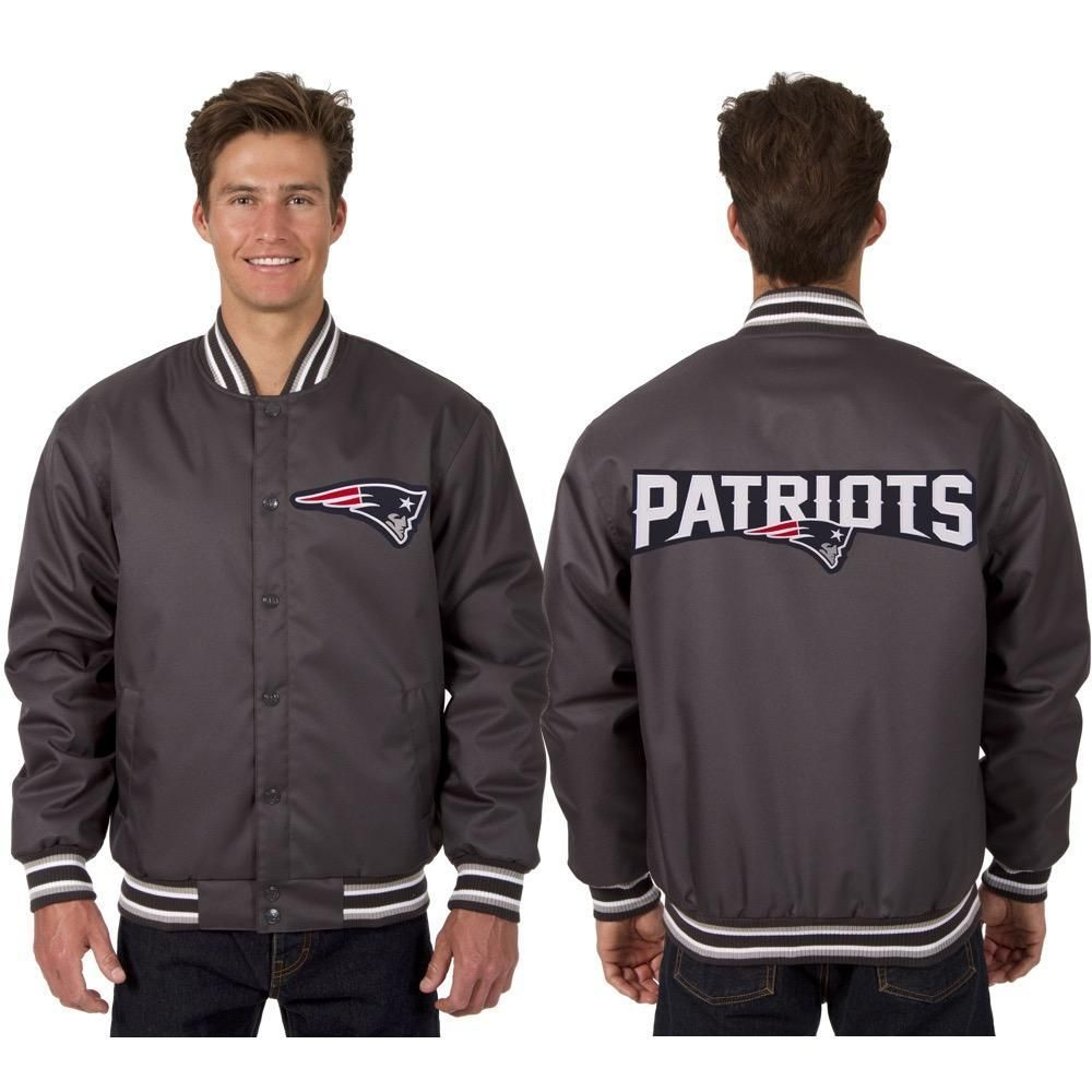 910efc662 New England Patriots Poly Twill Jacket made by JH Designs Clothing. -  Material  100% Polyester - Rib-knit collar