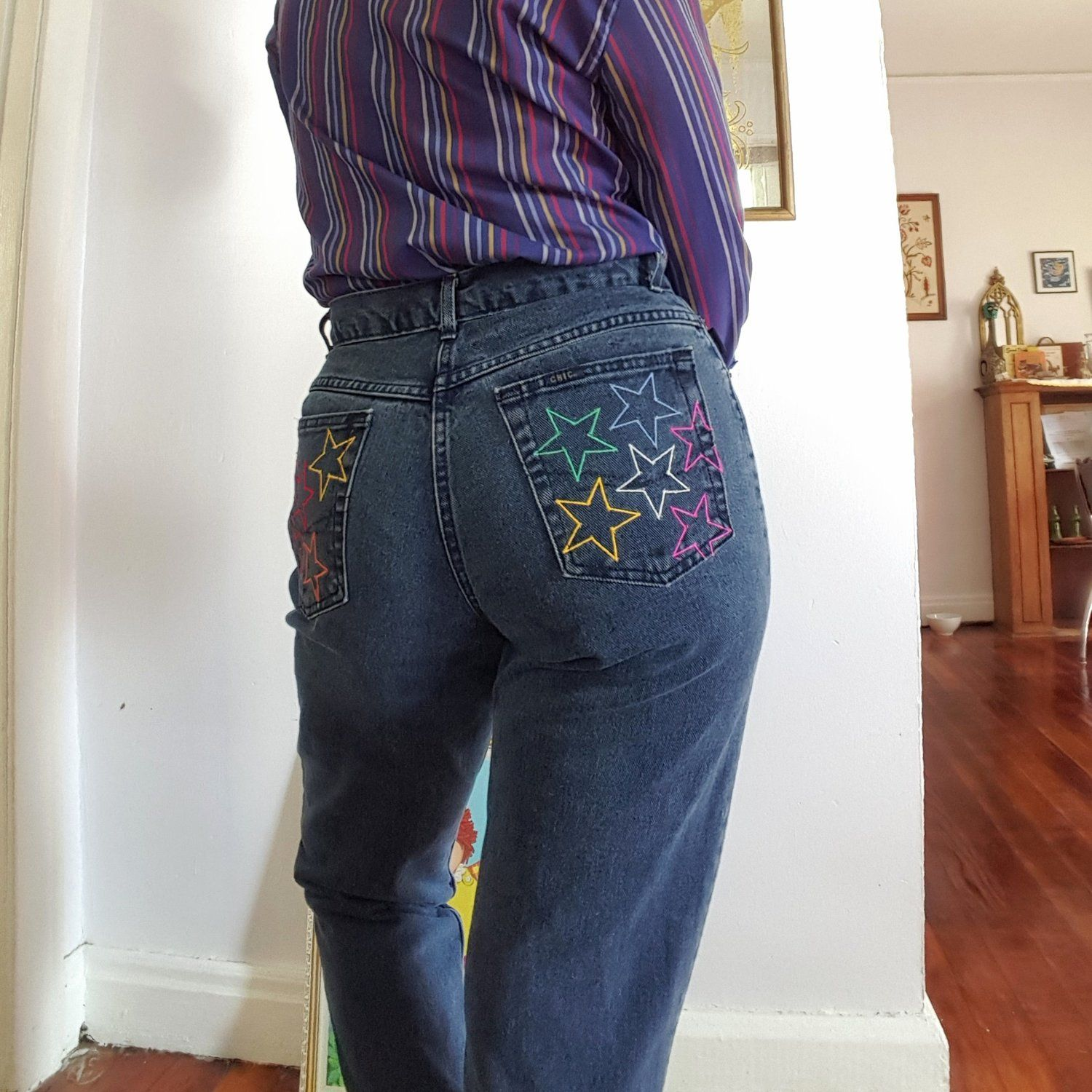 Rainbow Pocket Star Jeans — Clothes on an Even Keel