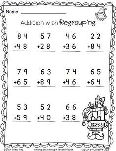Christmas Freebie Print And Go 2nd Grade Math Worksheets 2nd